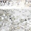 STZ 1440 pçs/lote Rhinestones Da Arte do Prego Branco Crystal Clear Natator Não Hotfix DIY Dicas Sticker Beads Nail Jóias Acessório NR01