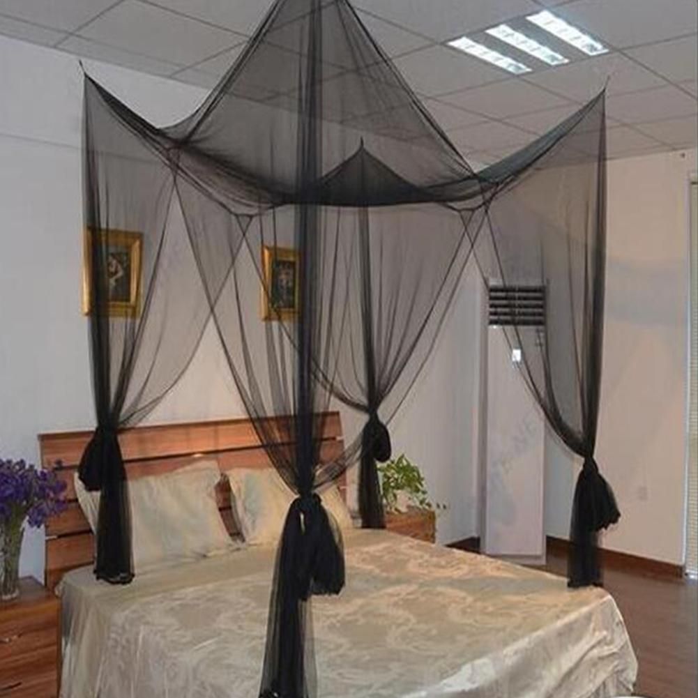 - Adeeing 4 Corner Post Mosquito Net Full Queen King Size Bed Canopy