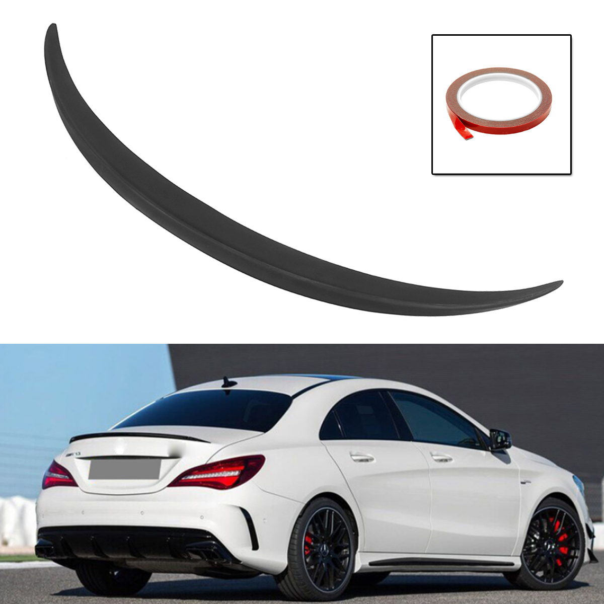 Car Rear Trunk Boot Lip Spoiler Wing Trunk Spoiler Wing Plastic Unpainted Fit For Mercedes CLA Class W117 C117 for AMG 2014 2018