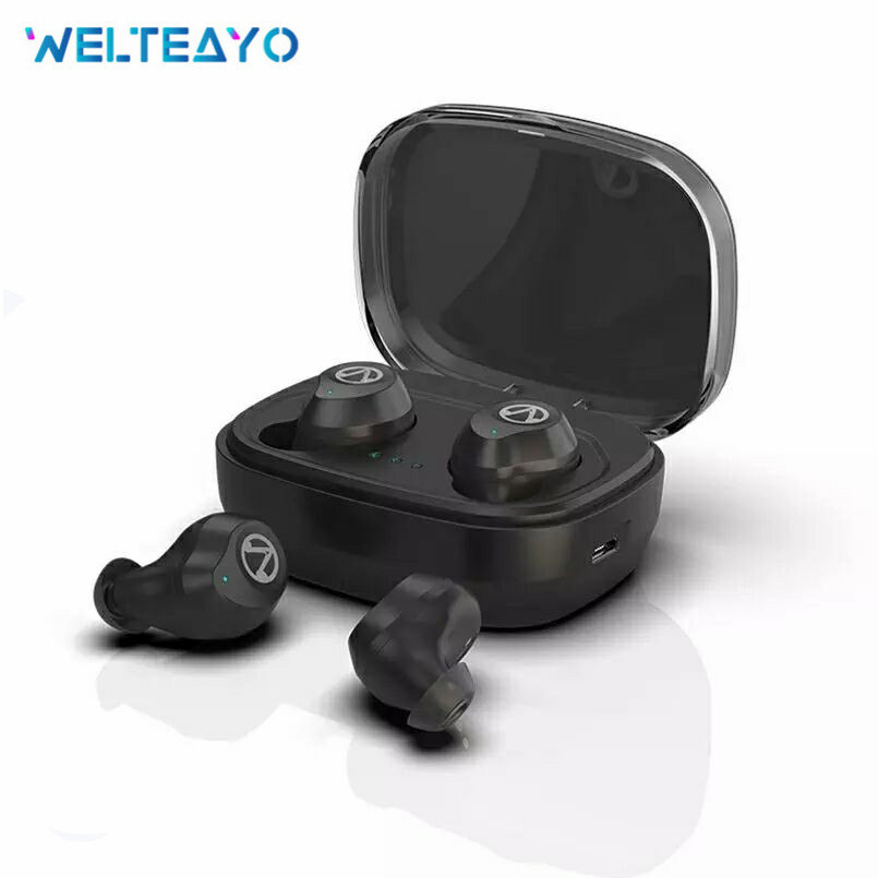 WELTEAYO X10 Touch Control TWS Bluetooth Earphones V5.0 Stereo Music IPX7 Waterproof Wireless Earbuds 1600mAh as Power Bank