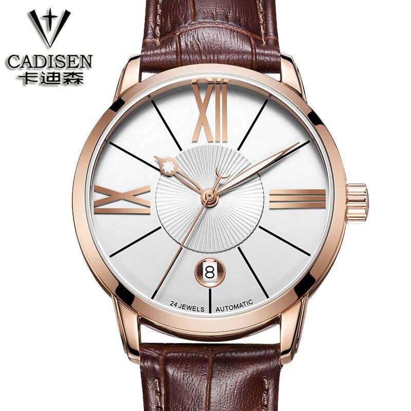 цена на Luxury Top Brand cadisen New Fashion Men's Big Dial Designer mechanical Watch Male Wristwatch relogio masculino relojes