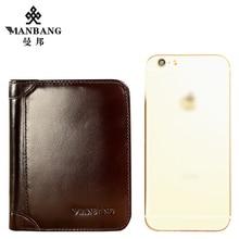 ManBang Genuine Cowhide Leather Men Wallet Trifold Wallets Fashion Design Brand Purse ID Card Holder Purse Gift For Men