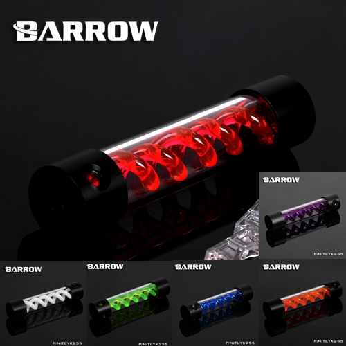 ФОТО Barrow VIRUS T cylinder water reservoir water tank 255mm computer water cooling UV Lighting included TLYK-255