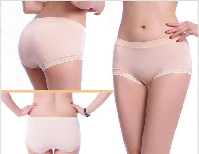 Free shipping -100pcs by EMS The lady with bamboo fiber briefs ladies underwear wholesale 11colors