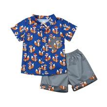 цена Kids Boys Clothes Summer Toddler Kids Baby Boys Clothing T Shirt Top +Short Pants Outfits Set Boys Clothing Set Children Clothes онлайн в 2017 году