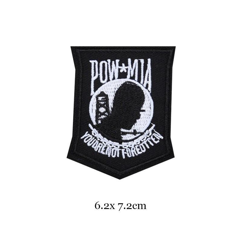 1 шт., черные, белые байкерские нашивки для одежды, железная одежда, аппликация с буквами, Череп, звезда, полосы, вышитая наклейка, круглый значок - Цвет: 17