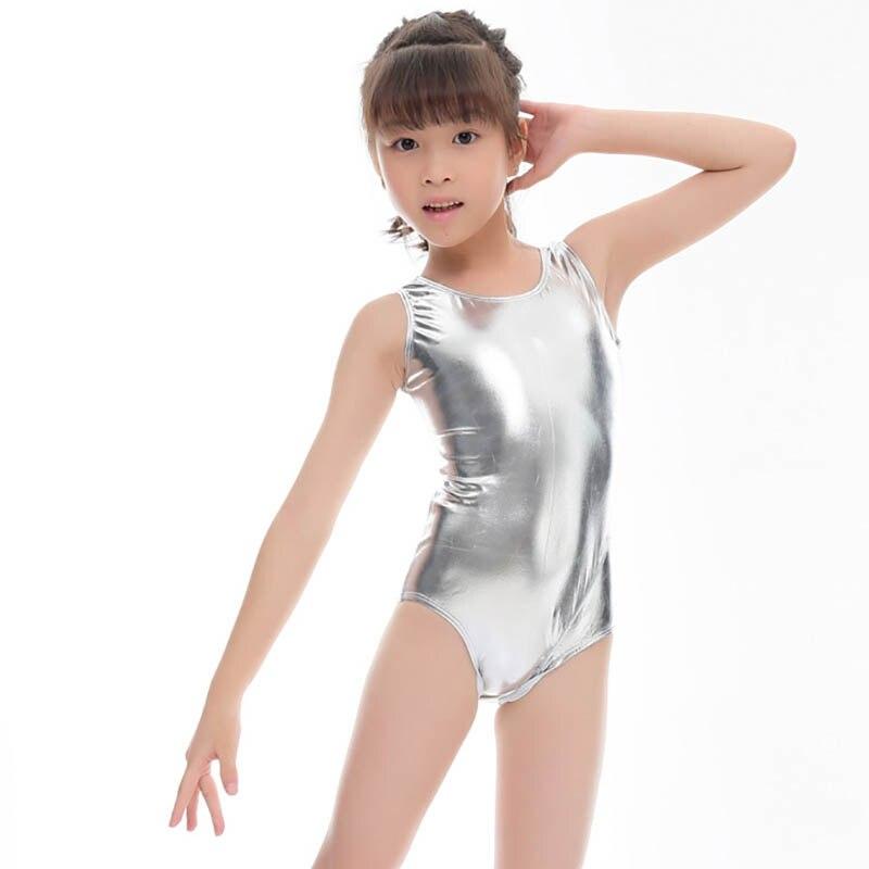 Sleeveless Shiny Leotards For Children Girls Ballet Costumes Leotard Gymnastics Suit Toddler Costumes Clothing Kids Dancewear Юбка