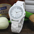 2016 New Luxury Fashion Womens' Quartz Ceramic Watch Date Clock Female Wrist Casual Dress Watch Rose Gold Relogio Feminino Lady