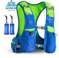AONIJIE Men Women 10L Outdoor Bags Hiking Backpack Vest Marathon Running Cycling Backpack Optional Bottle Water