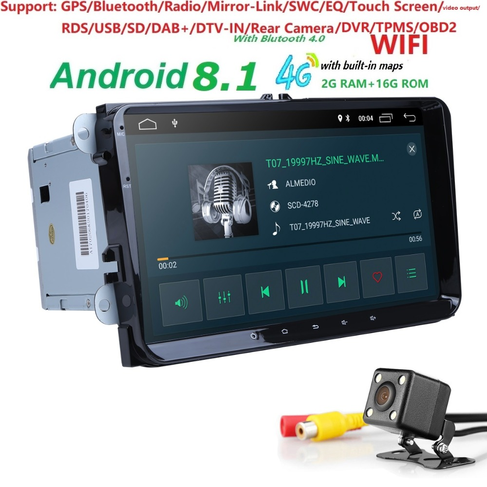 2Din 9 Android 8 1 Car DVD Player Stereo Radio for VW GOLF 5 Golf 6