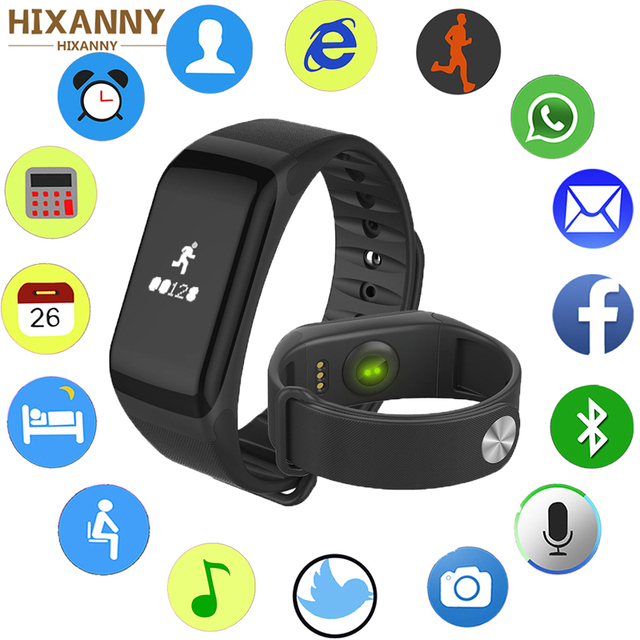 Smart Wristband Heart Rate Tracker Bracelet Activity Tracker Smart Band Color LCD Touch Screen Watch Band Pk Miband