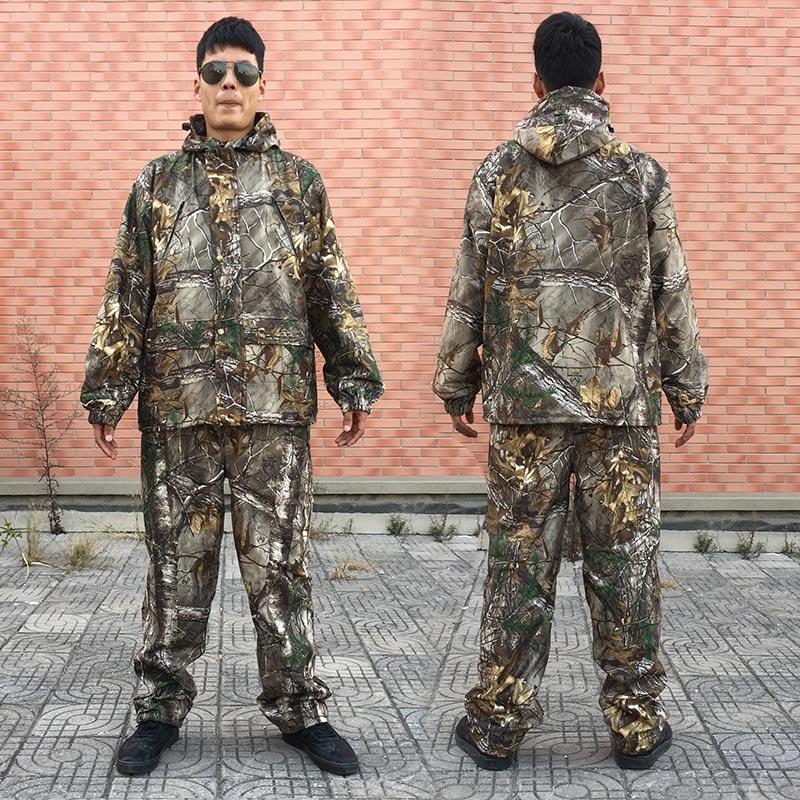 Uomini Outdoor Bionic Camouflage Caldo Abbigliamento per la Caccia Inverno Caccia Suits con Pile Ghillie Suit Camo Caccia Giacca e PantaloniUomini Outdoor Bionic Camouflage Caldo Abbigliamento per la Caccia Inverno Caccia Suits con Pile Ghillie Suit Camo Caccia Giacca e Pantaloni