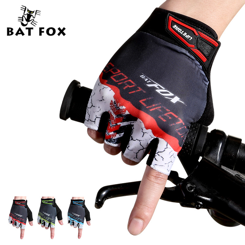 ₩Batfox deportes hombres mujeres medio dedo corto Bicicletas Guantes ...