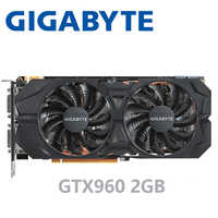 Gigabyte GTX-960-OC-2GB GT960 GTX960 2G D5 DDR5 128 Peu nVIDIA pc de bureau PCI Express 3.0 ordinateur Cartes Graphiques