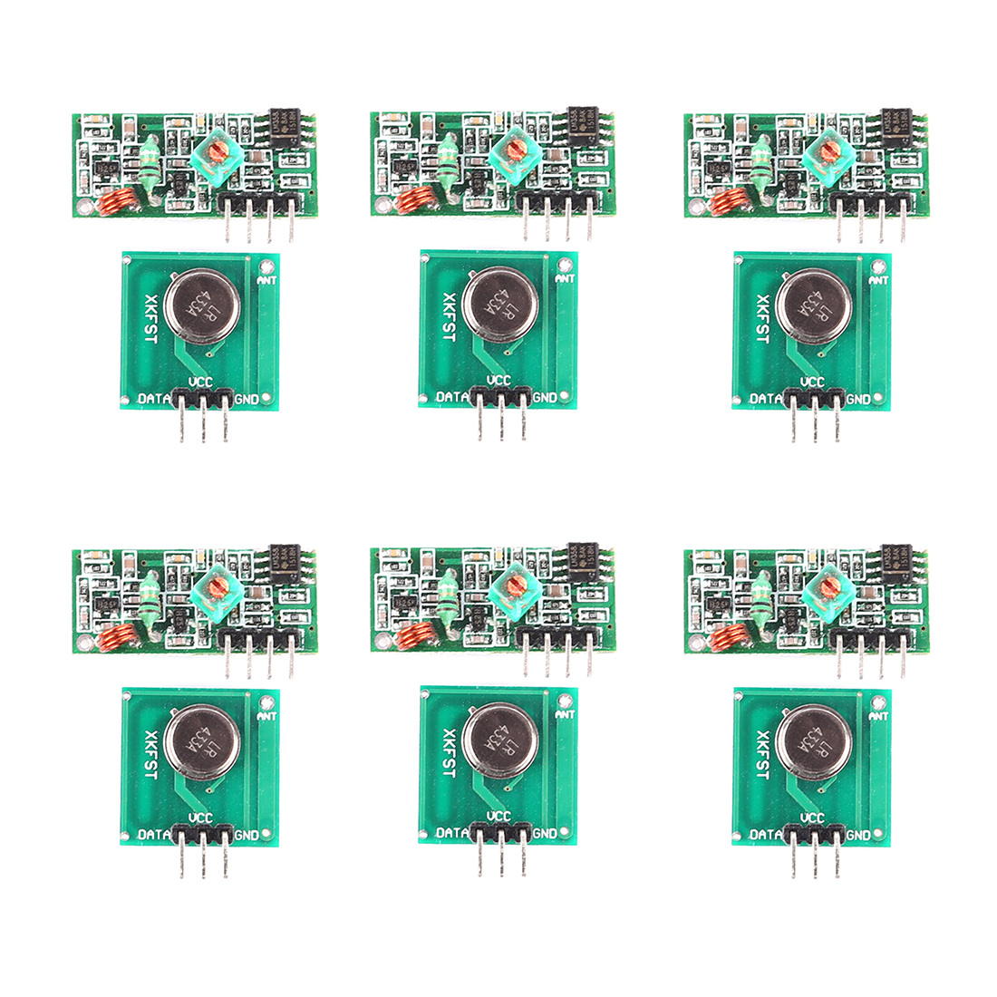 MODIKER 6PCS High Tech 433mHz Wireless Transmitter Module FOR MCU Decoding Receiver For Arduino ARM MCU Wireless Programmable