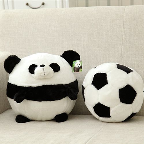 Candice guo plush toy baby cartoon animal round head panda ball football pillow cushion kid birthday gift christmas present 1pc candice guo cute plush toy anime corgi pet shiba dog head hamburger cushion hand warm pillow birthday christmas gift 1pc