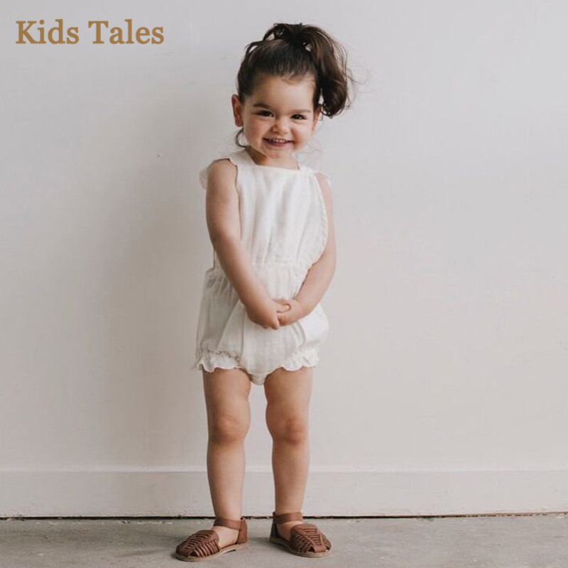 255a27b51700 2018 New Wholesale Baby Girls Ruffles Romper Cotton Autumn Spring Babys  Jumpsuit 0-2t PA447