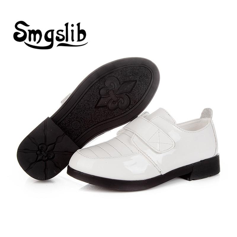 buty dla dzieci Chłopcy Płaskie skórzane buty czarne białe - Obuwie dziecięce - Zdjęcie 5