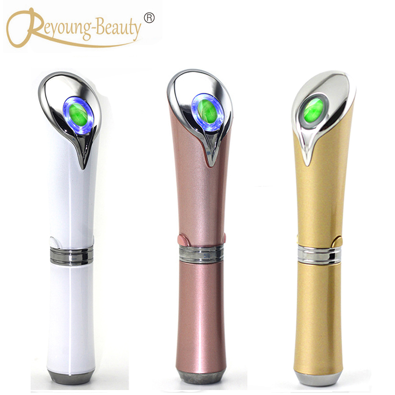 USB Natural Jade Ion Eye Beauty Care Skin Moisture Lifting Tightening Dark Circle Eyebag Wrinkle Removal Vibration Massager Pen ms w automic electric eye care massager ion in blue eye wrinkle removal stick usb charge vibration beauty pen infrared treatment
