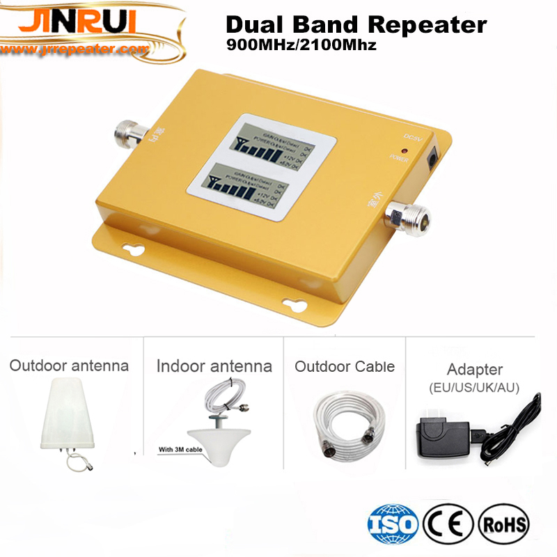 Dual band Signal gsm repeater 2G 3G 4G mobile signal repeater GSM 900MHz UMTS 2100MHz WCDMA