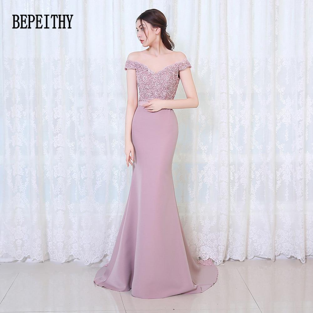 BEPEITHY Vestido De Festa Longo Mermaid Bridesmaid suknelės Grindų - Suknelės vestuvėms - Nuotrauka 4