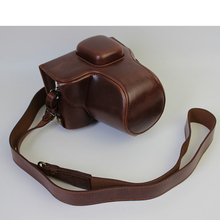 Coffee Luxury Digital Camera Leather Case Cover for Olympus Pen Lite E-PL7 Camera Case Charging Directly Free Shipping