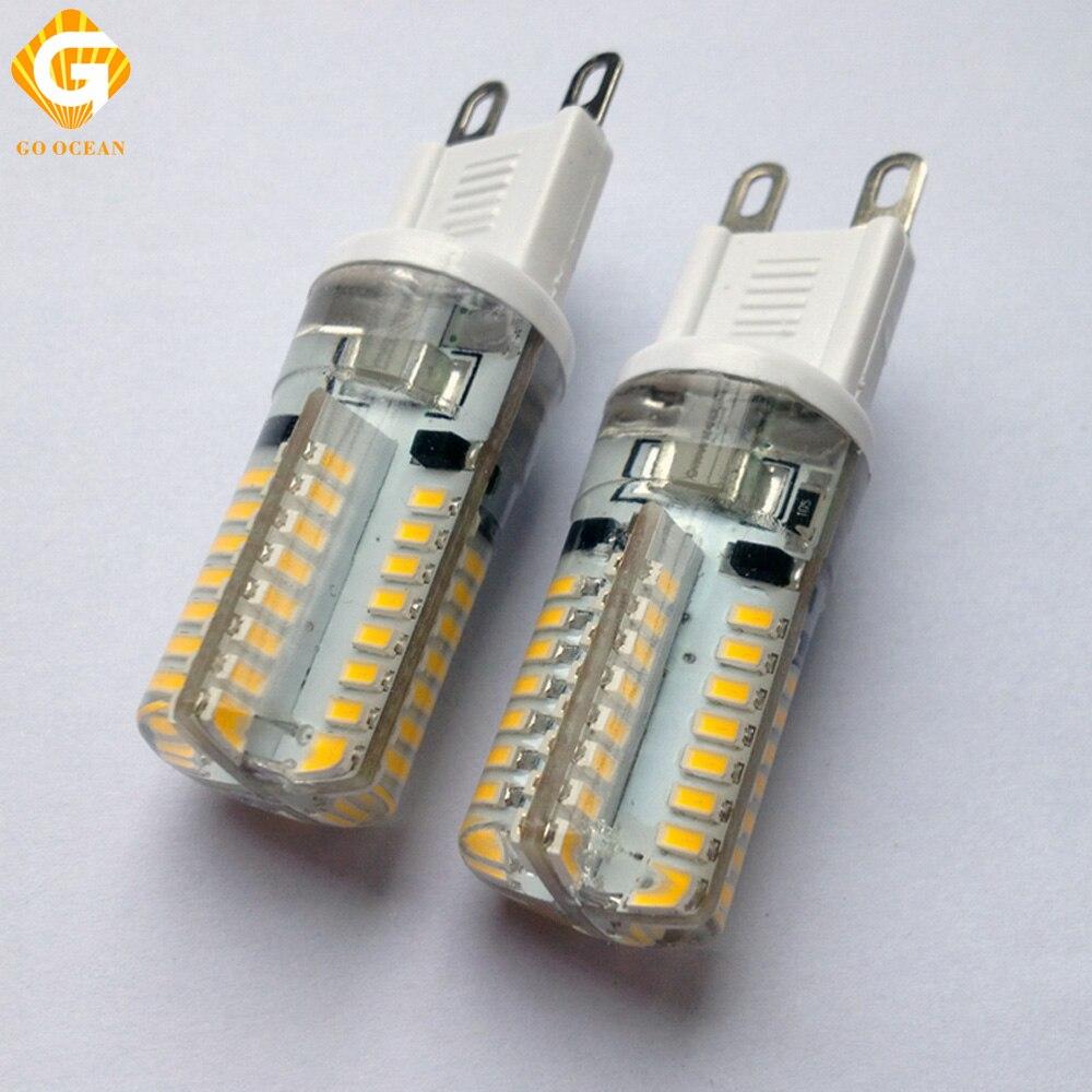 GO OCEAN LED G9 Lamp 220V 230V 240V 6W Corn Light Crystal Lamp G9 Bulb Spot Lights Directly Replace G9 Halogen Lamp