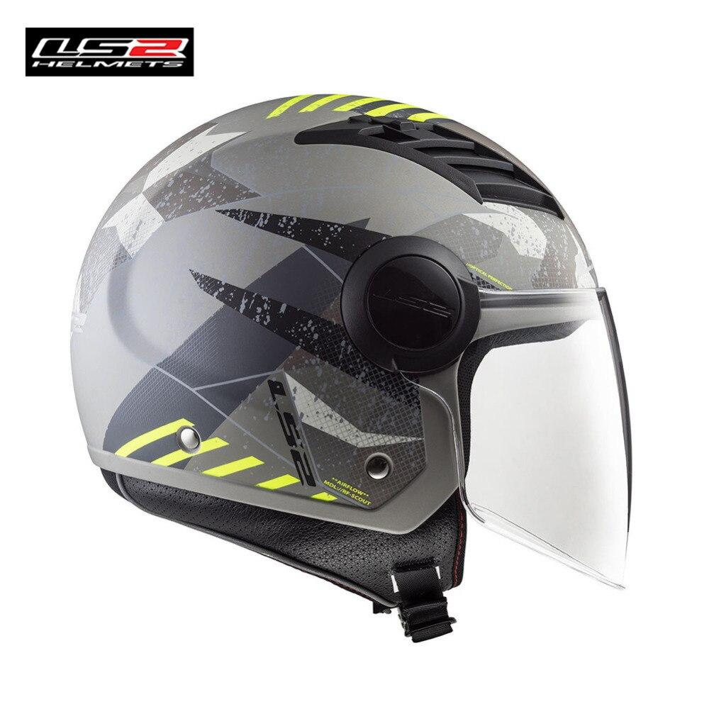 LS2 Open Face Motorcycle Helmet Scooter Casque Capacete Casco Moto Helmets For Helm Kask Motor Motorbike