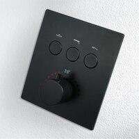 Душ управление переключатель клапан латунь ванная комната смеситель для душа 4 Water Out настенный скрытый клапан Chrome/черный управление ler