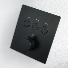 3 maneiras Válvula De Controle Termostático com Incorporado Caixa de Latão Cromado Chuveiro Misturador Do Chuveiro Do Banheiro Torneiras Preto Controlador