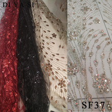 цена на glitter lace with blouse gold lace fabric african lace fabric 2018 high quality lace in gold SF37 glitter lace fabric