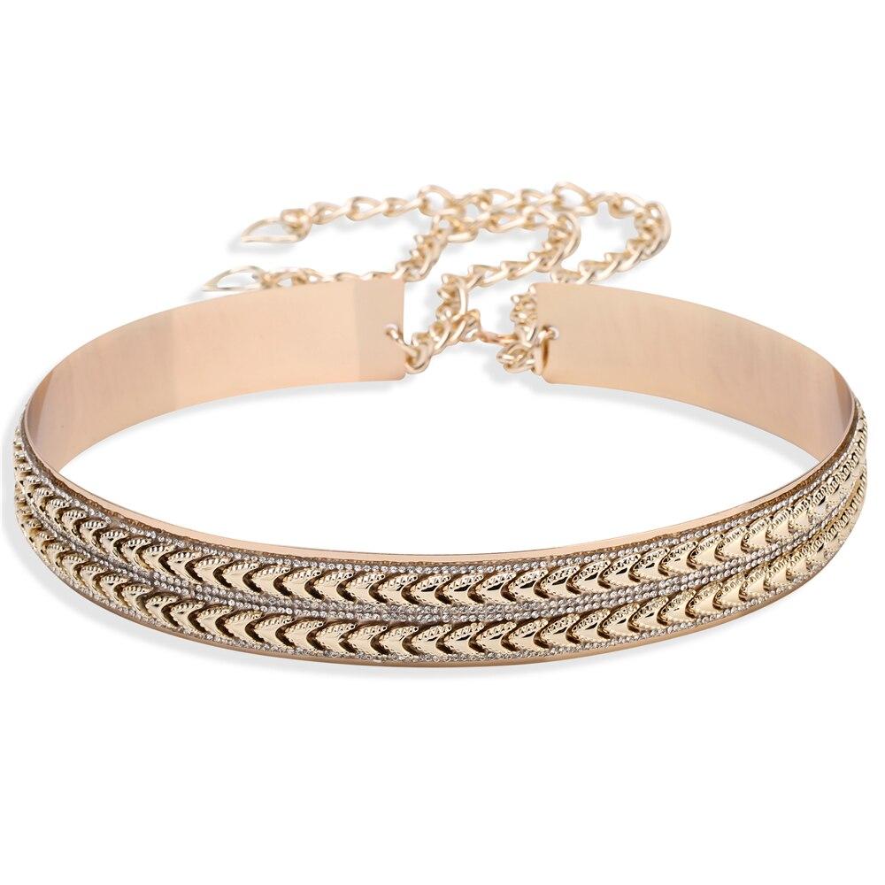 LIAOMIUFU New Arrival Tide Metal Mirror Chain Endurably 3.5cm Wide   Belt   Gold Women Fashion Apparel Accessories   Belts   For Women