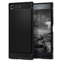 100 Original Korea Made Rugged Armor Carbon Fiber Texutred Protective Flexible TPU Case For Sony Xperia