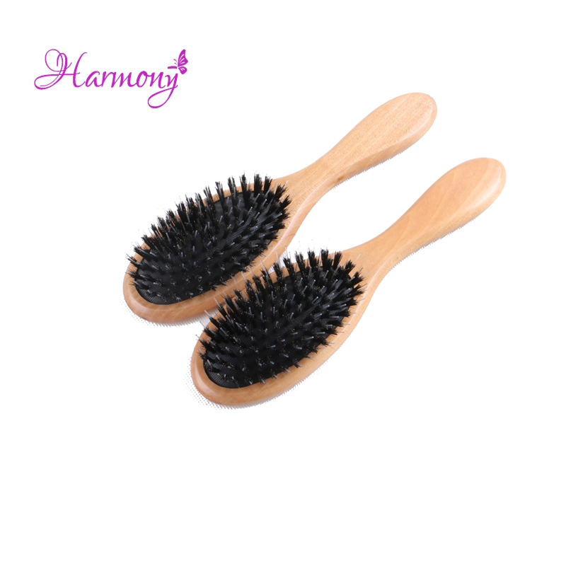 1pcs Harmony Plus Free shipping Varnish Boar Bristle Hair Brush, Hair Extensions Brush for Salon Use, Boar Bristle with Nylon