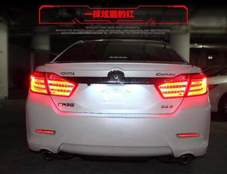 doxa Car Styling for Toyota Camry Taillights 2012 2013 2014 Camry V50 LED Tail Light Aurion