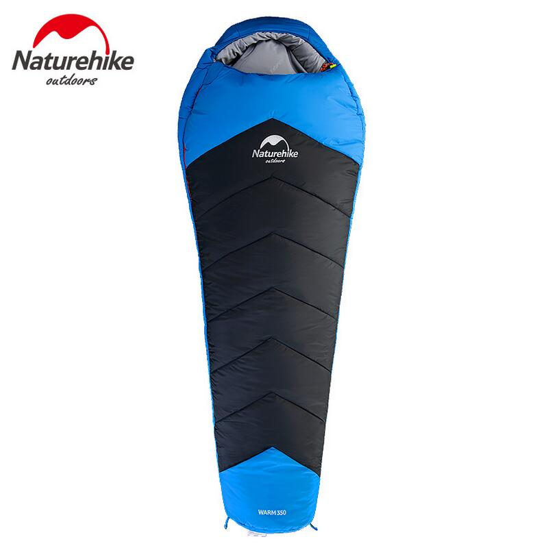 Naturehike Ultralight Mummy Sleeping Bag Adult camping travel 3 seasons cotton sleeping bag winter camping equipment NH17S350-D naturehike mummy sleeping bag ultralight camping outdoor 3 season cotton winter adult sleeping bags for tourists 1750g 210 80cm