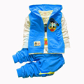 Baby Donald Duck Boys Clothing Sets Spring Cartoon Cotton Children Set Hoody Vest Tshirt Pants 3 piece Suit Kids Clothing
