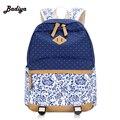 Portable Zipper Soild Canvas Back Pack Daily Traveling Women Backpack Ultralight Preppy Shoulder Bags