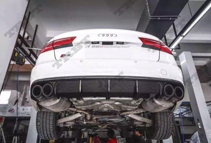 Auto Parts Coupons >> A6 Sline Rear Diffuser S6 Carbon Fiber Rear Lip Qual exhaust Rear Bumper lip Spoiler Case For ...