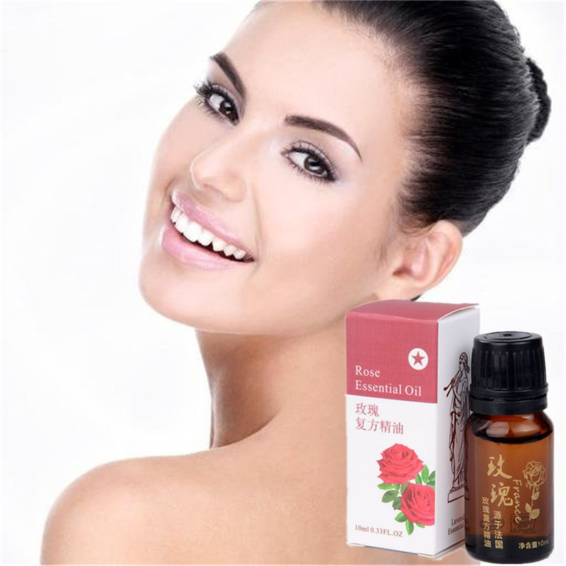 100% Pure Rose essential oil 10ml whitening balancing grease body and face slimming essential oil 10ml