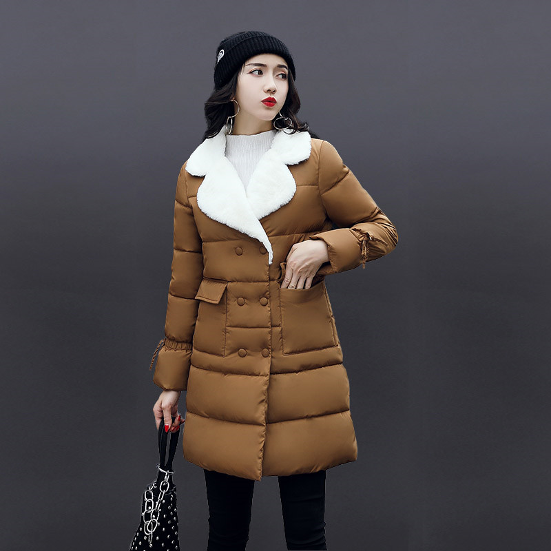 Winter Thicken Double breasted Slim Cotton Warm Parka Padded Jacket Women High Quality Lady Large Size Jaquetas Feminino TT3038 2017 middle aged winter jacket women thicken warm cotton padded slim plus size 6xl winter coat women parka high quality