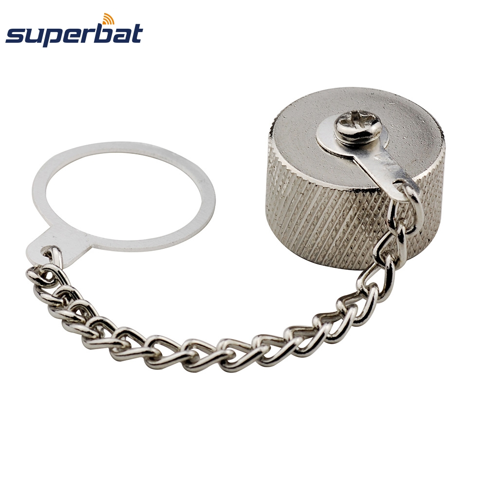 Superbat  10 Pcs  Dust Cap For N-Type Jack Female Connector With Ring Chain New Free Shipping