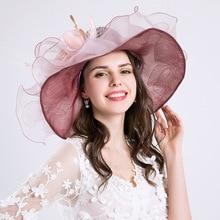 MIARA.L new EU  womens summer sun hat with large flower-mesh fashion cap