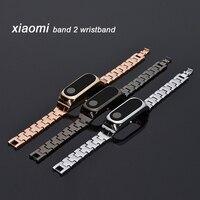 Cinghia per Xiao mi mi fascia 2 Braccialetto di Ricambio in Acciaio Inox Braccialetti Da Polso Strap Per Mi fascia 2 braccialetto