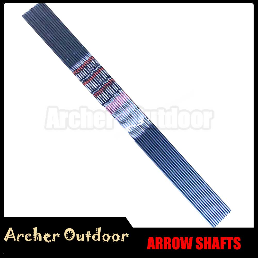 12Pcs V3 V6 Pure Carbon Arrow Shaft Spine 350 400 500 600 700 800 900 ID