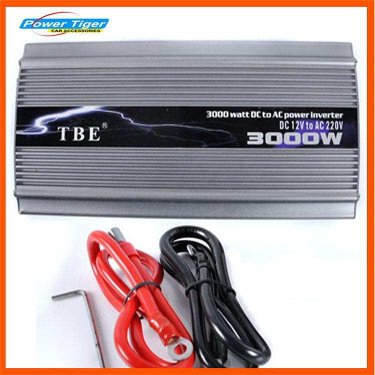 TBE 3000W Modified Sine Wave Car 12V DC to 220V AC Auto Car Power Inverter with Universal Socket Adapter For Electrical Fan portable car inverter dc 12v to ac 220v 3000w car charger power inverter supply converter adapter with double universal socket