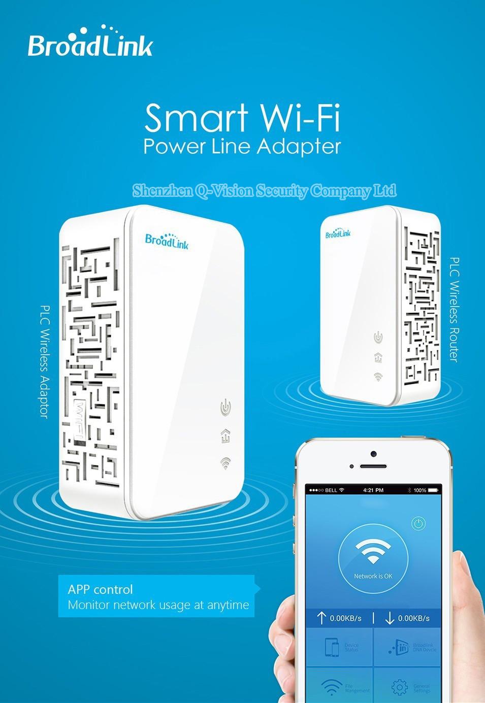 11-UKEUCN Broadlink DNA 200M Wireless WIFI Router Powerline Carrier Extend Wireless Smart Router WIFI Range Extender Automation