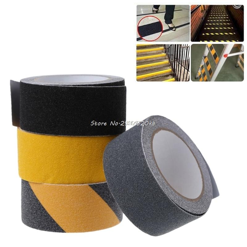 5CM x 5M Floor Safety Non Skid Tape Roll Anti Slip Adhesive Stickers High Grip HULL_9 bike bicycle anti skid non slip handlebar tape belt wrap w bar plug camouflage black white