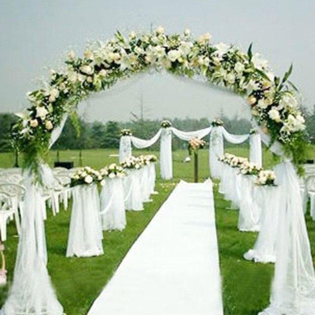Siedzenia Krzesło Sash Łuki ślubne Tkanina Organza Wedding Party Decoration 1000 cm * 75 cm