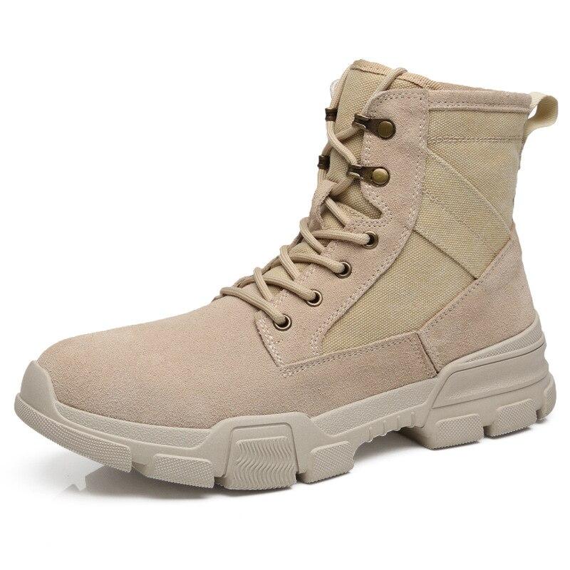 Мужская зимняя высокая обувь; Мужская обувь; кожаные мужские ботинки дезерты; Повседневная обувь; трендовые мужские кроссовки